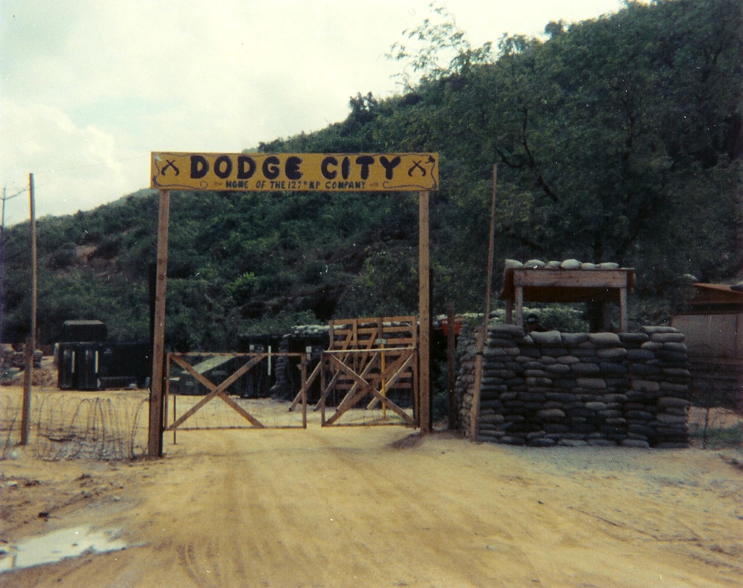 Front gate entrance to Dodge City, home sweet home to the 127th MP ...